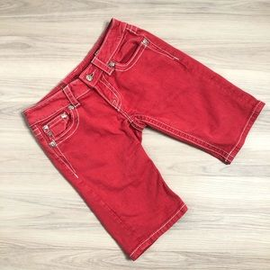 Miss Me Red bermuda shorts, size 26